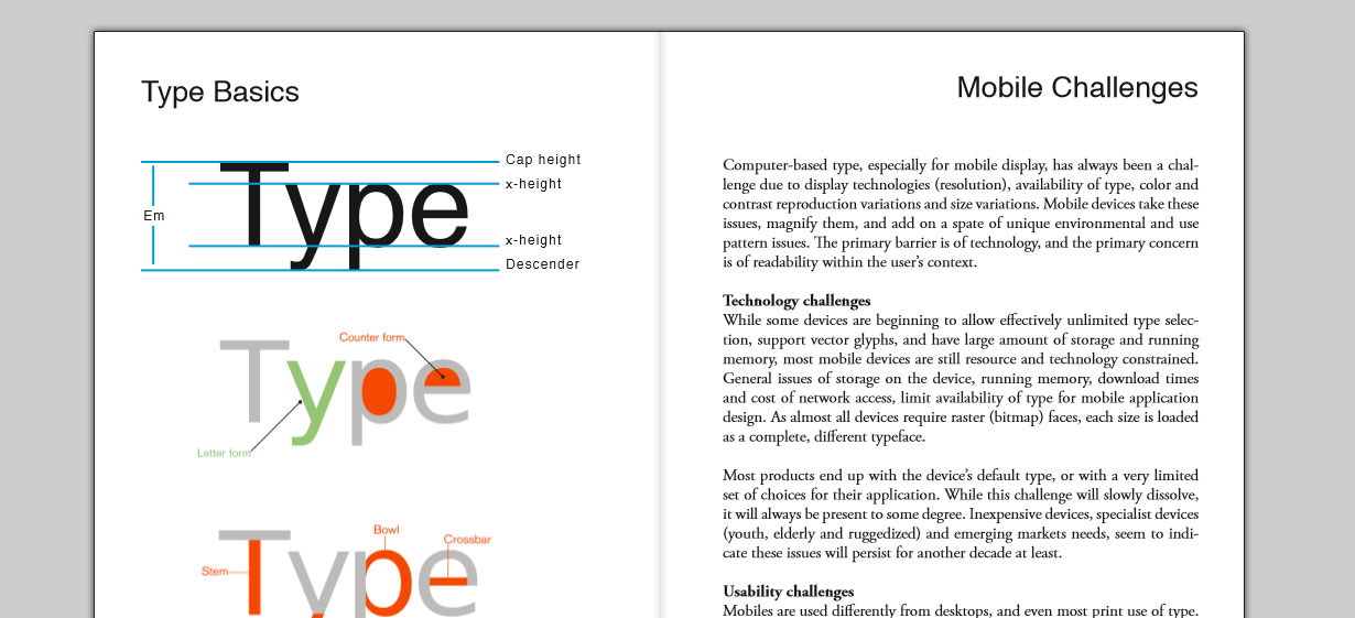 Typography of Mobile Devices by Mike Pell