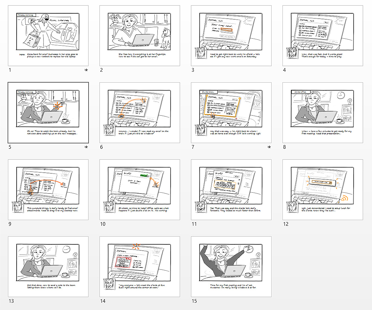 Windows 8 storyboard
