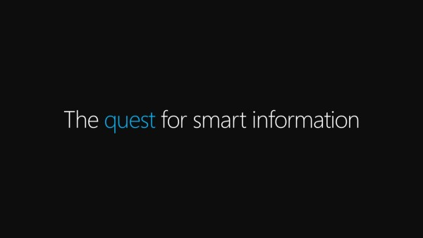 The quest for smart information