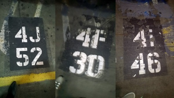 Parking space numbering