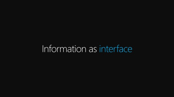 Information as Interface