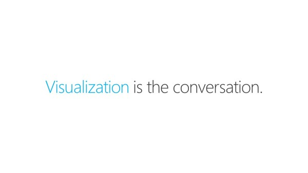 Visualization is the conversation.