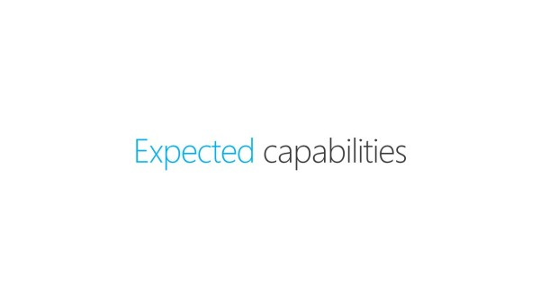 Expected capabilities