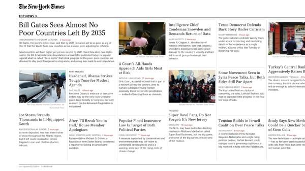 New York Times demo